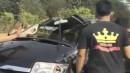 Suzuki APV Terbalik di Tol Jagorawi Hingga Penumpang Terlempar
