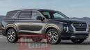 Wujud Penantang Fortuner dan Pajero Sport Dari Hyundai Bocor