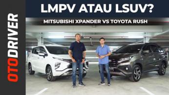 VIDEO: Mitsubishi Xpander VS Toyota Rush 2019 Review Indonesia | OtoDriver