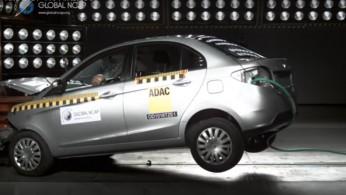 VIDEO: Crash Test Tata Zest Dengan dan Tanpa Airbag