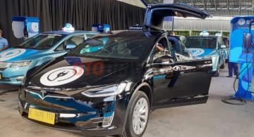 Melihat Lebih Dekat Tesla Model X Taksi Silverbird (8 Foto)